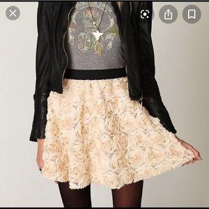 Free people rose rosette flower skirt xs
